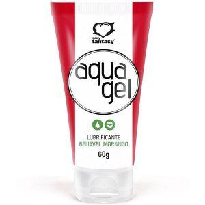 Aqua Gel Lubrificante Beijável Morango 60 Gr Sexy Fanasy