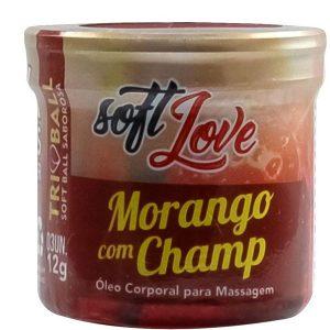 Bolinha Explosiva Beijável 12 Gr 3 Uni Soft Love Morango com Champ