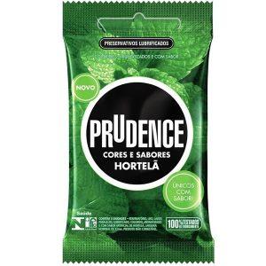 Preservativos Cores e Sabores Hortelã Prudence