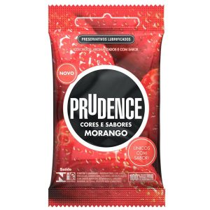 Preservativos Cores e Sabores Morango Prudence